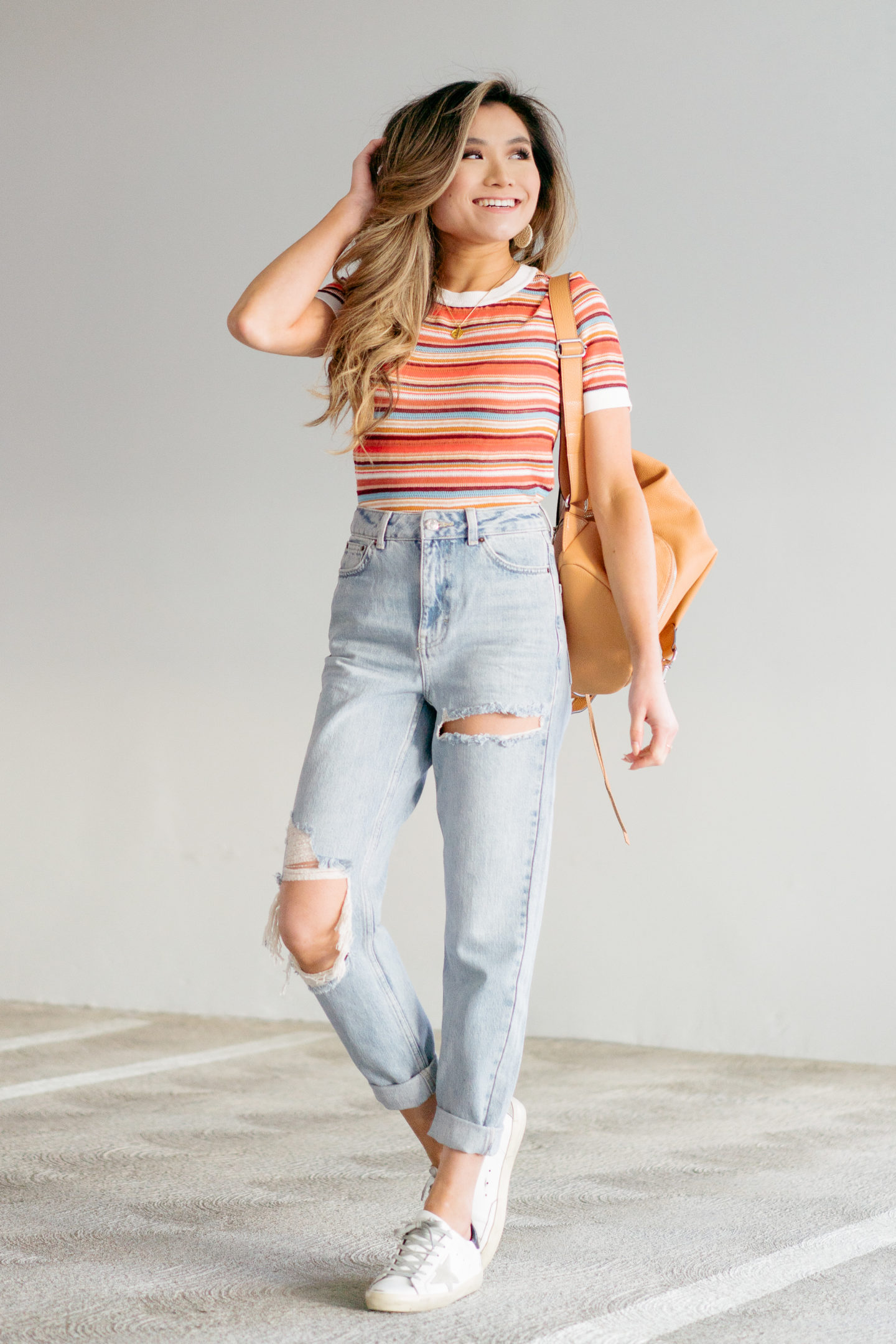 miss louie in nordstrom spring to summer outfit