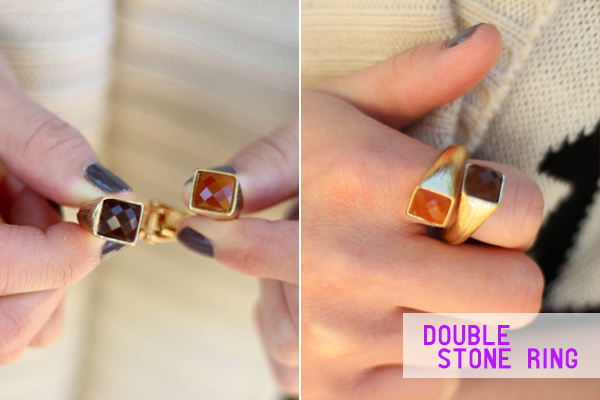 shoplately cvsourcery double stone gold ring