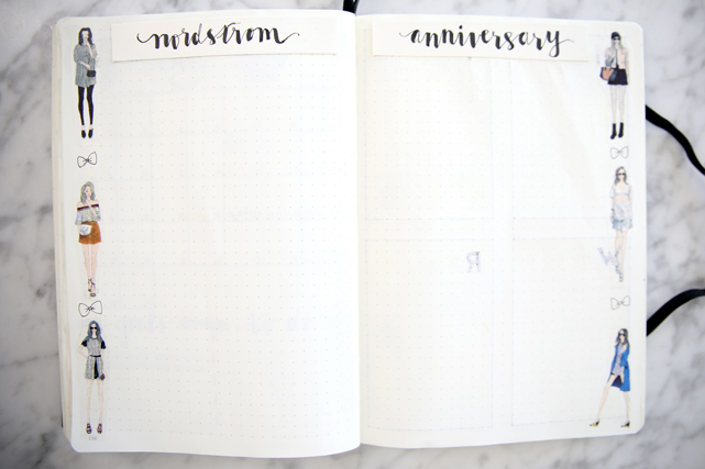bujo bullet journal minimalist collection shopping list nordstrom anniversary sale