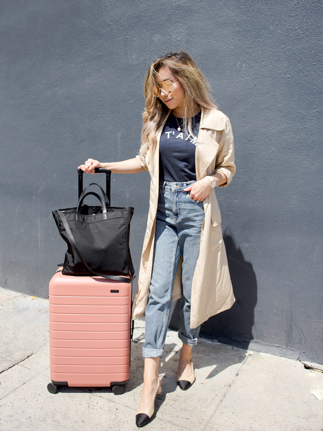 away luggage travel the bigger carry on rashida jones edition clay review