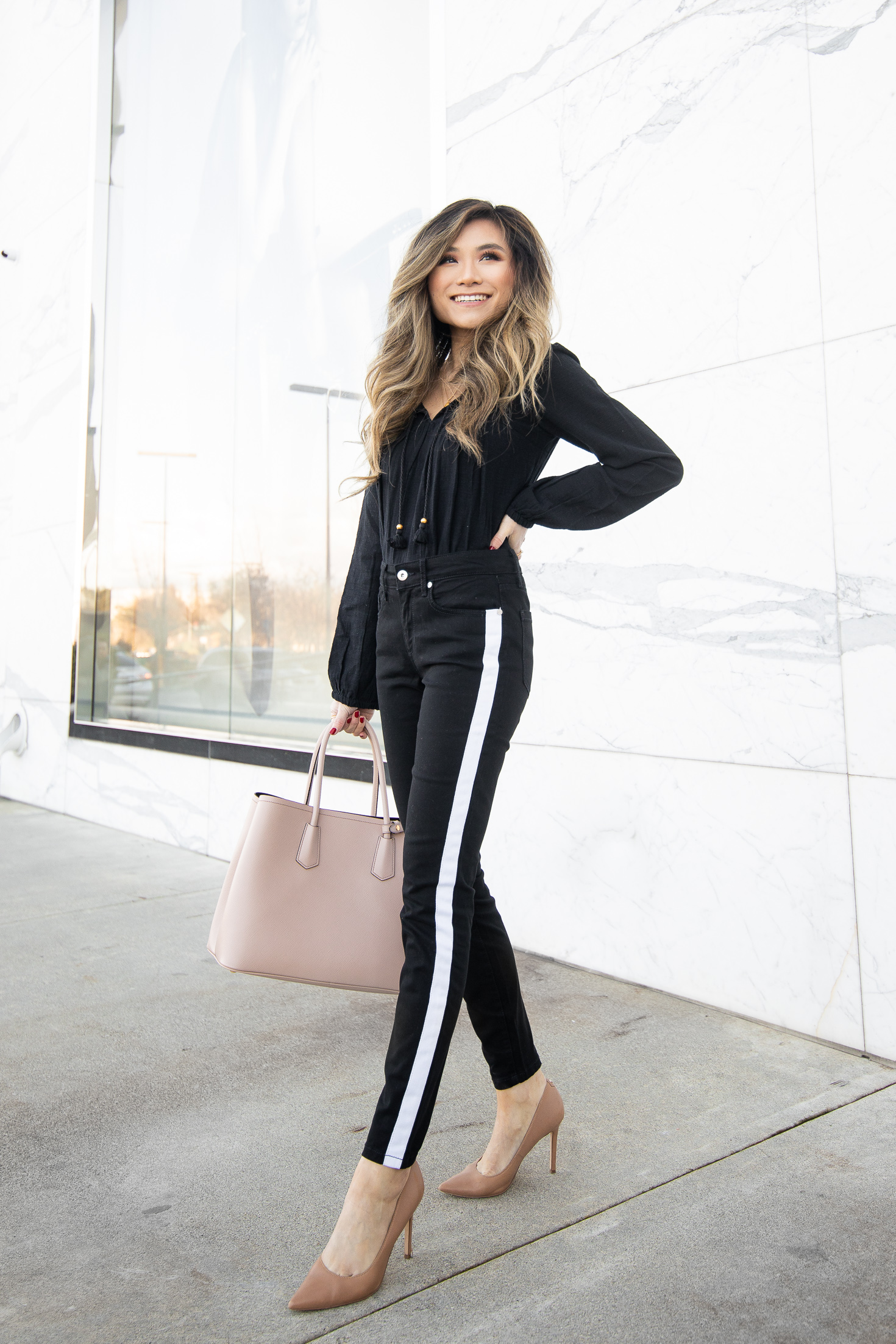 Fashion YouTuber and Blogger Miss Louie in Walmart womens clothing Sofia Jeans by Sofia Vergara